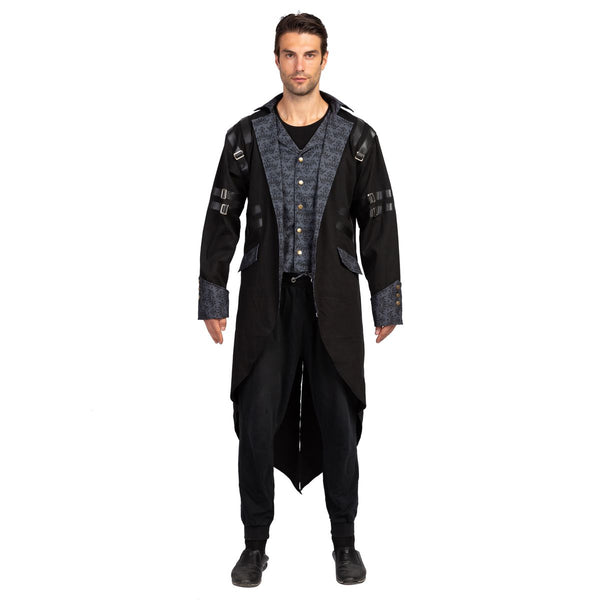 Gothic Steampunk Vintage Tailcoat Victorian Adventurer Halloween Costume for Men