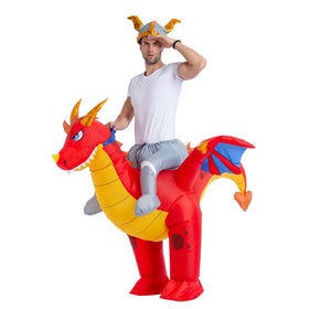 Inflatable Ride-On Fire Dragon Costume - Adult