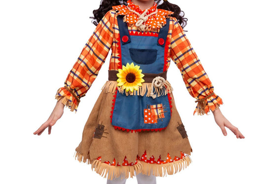Sunflower Sweet Scarecrow Costume for Girls
