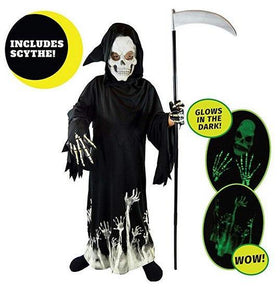 Glow-in-the-Dark Grim Reaper Costume Set