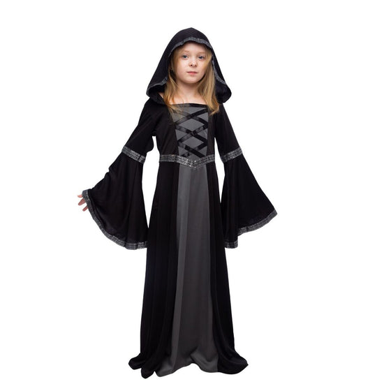 Hooded Robe Costume for Fortune Teller, Gypsy, Princess Girls Halloween Role-Playing Party