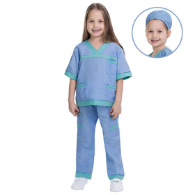 Dr. Scrubs Kids Toddler Vet Costume Set in Blue