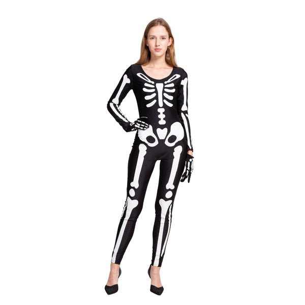Skeleton Glow in The Dark Catsuit Bodysuit Halloween Costumes for Women - Spooktacular Creations