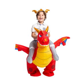 Inflatable Ride-On Fire Dragon Costume - Child