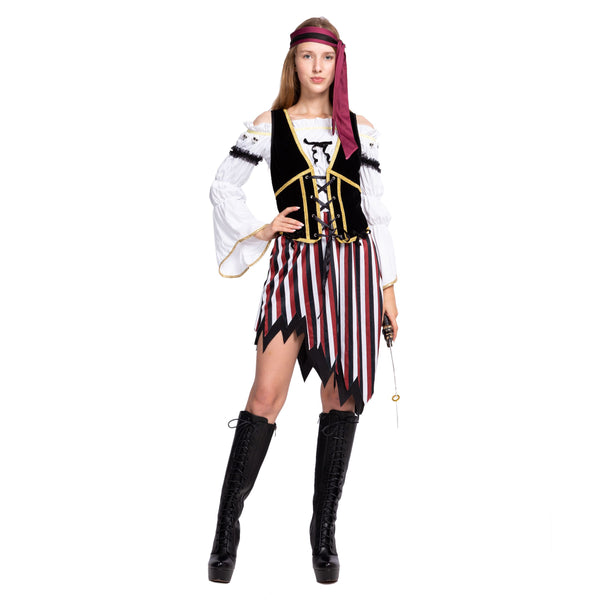 High Seas Pirate Wench Captain Costume for Women - Adult
