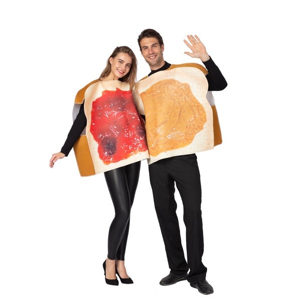 Butter and Jelly PBJ Costume Couple Set - Adult