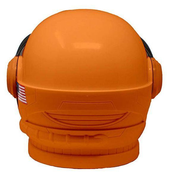 Astronaut Orange Helmet with Movable Visor Pretend Play Toy Set for School Classroom Dress Up, Role Play Accessory, Christmas Gift Stocking, Birthday Party Favor Supplies, Boys, Kids and Toddler