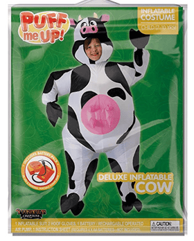Inflatable Cow Deluxe Costume - Kids