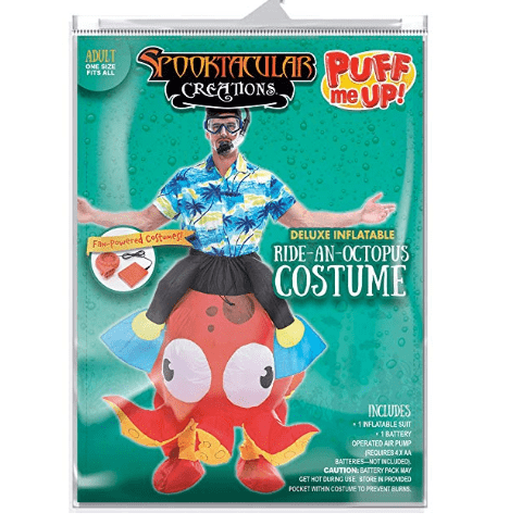 Riding-an-Octopus Inflatable Costume - Adults