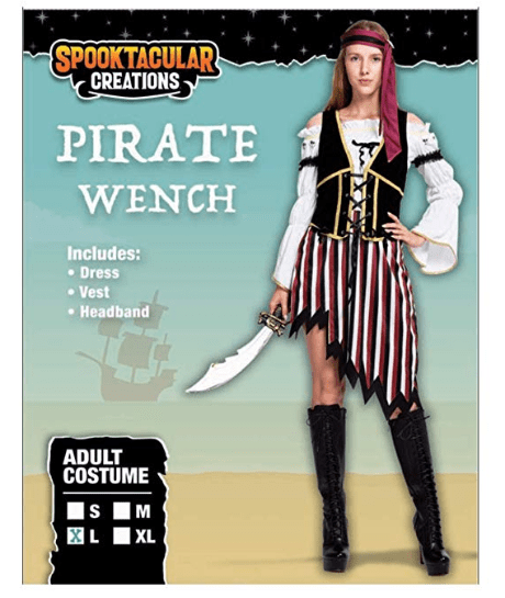High Seas Pirate Wench Captain Costume for Women