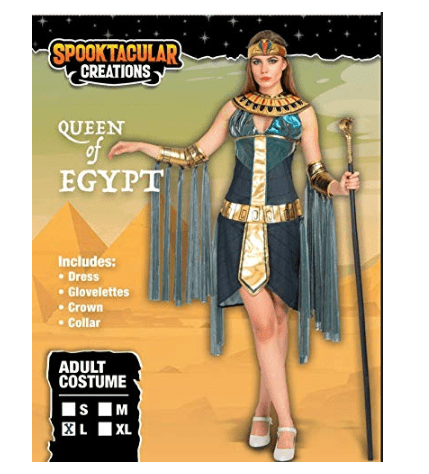 Egyptian Goddess Queen Cleopatra Costume for Women Halloween Role-Playing Cosplay