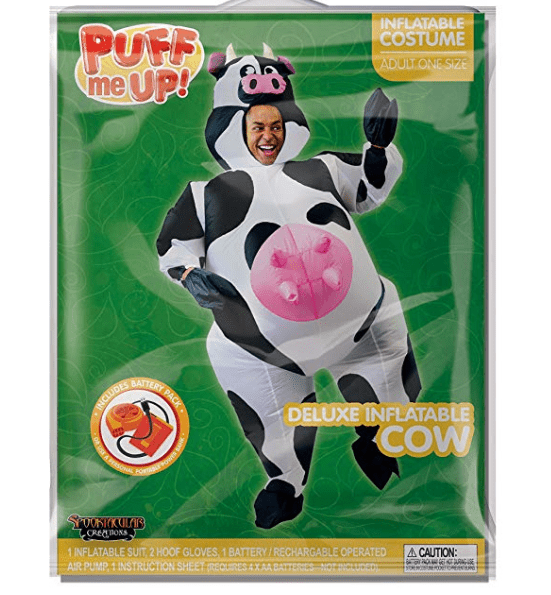Inflatable Halloween Cow Costume - Adult Size