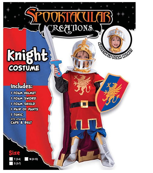 Medieval Knight Costume Deluxe Set - For Boys