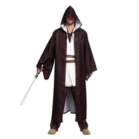 Master of Light Fancy Costumes with Tunic Hooded Robe Cloak Outfit for Halloween Cosplay