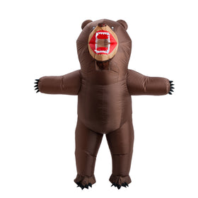 Inflatable Grizzly Bear Costume - Adult