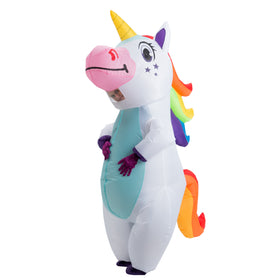 Inflatable White Unicorn Full Body Costume