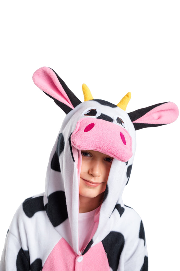 Cow Animal Onesie Pajama Costume - Child - Spooktacular Creations