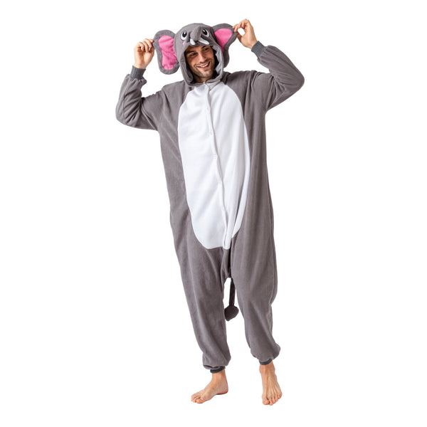 Elephant Animal Onesie Pajama Costume - Adult - Spooktacular Creations