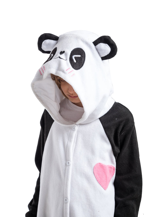Unisex Child Pajama Plush Onesie Panda Animal Costume