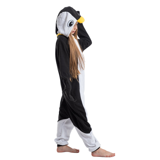 Unisex Child Pajama Plush Onesie Penguin Animal Costume