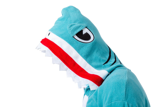 Unisex Adult Pajama Plush Onesie Shark Animal Costume