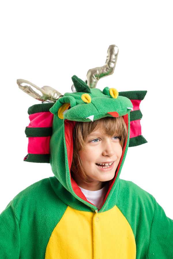 Unisex Child Pajama Plush Onesie One Piece Dragon Animal Costume - Spooktacular Creations