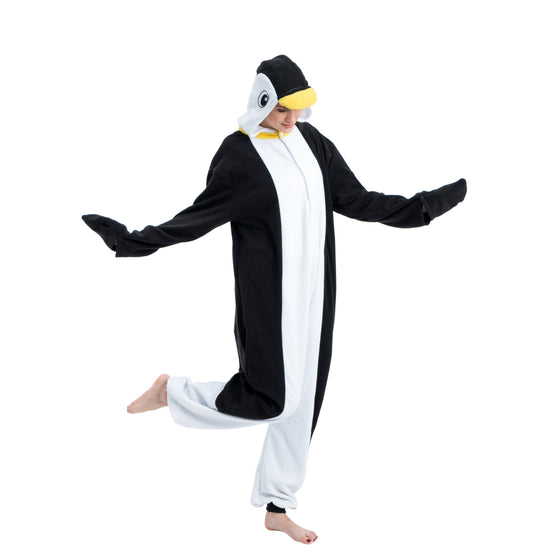 Unisex Adult Pajama Plush Onesie One Piece Penguin Animal Costume