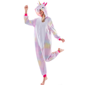 Unicorn Animal Onesie Pajama Costume - Adult
