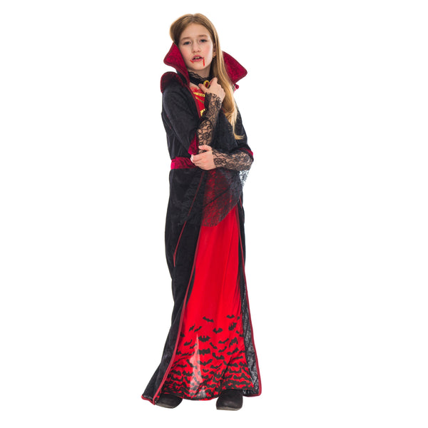 Royal Vampire Costume for Girls Deluxe Set - Spooktacular Creations