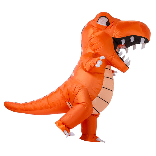Inflatable Animated Orange Dinosaur Costume