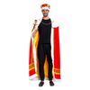 Regal King Royal Robe Halloween Costume Set with King Crown and Scepter (Standard) Red - Spooktacular Creations