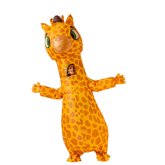 Inflatable Costume Giraffe Full Body Giraffe Air Blow-up Deluxe Halloween Costume - Adult Size