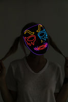 LED Mask Light-up Clown Mask - Adult