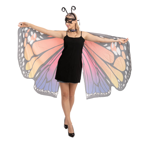 Rainbow 2 Butterfly Wings Costume - Adult