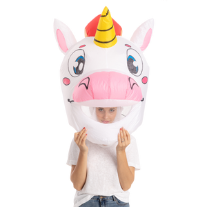 Unicorn Bobble Head Inflatable Costume - One Size