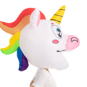 Unicorn Bobble Head Inflatable Costume - Adult