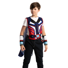 LED Waistcoat with Cape and Wristbands - Child