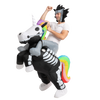 Skeleton Unicorn Ride-On Inflatable Costume - Adult