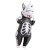 Skeleton Unicorn Full Body Inflatable Costume - Adult