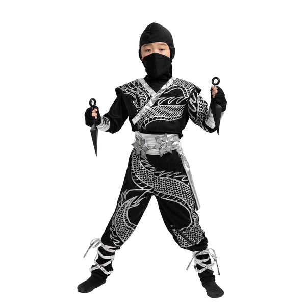 Silver Ninja Dragon Halloween Costumes - Child