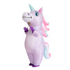 Inflatable Purple Rainbow Unicorn Costume