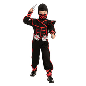 Spooktacular Creation Glow in the Dark Unisex Red Ninja Light Up Costume