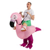 Inflatable Ride-On Flamingo Costume
