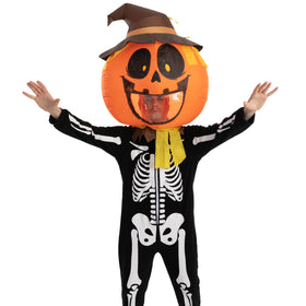 Pumpkin Bobble Head Inflatable Costume - Adult