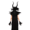 Black Queen Accessories with Horn, Shawl, Cuff