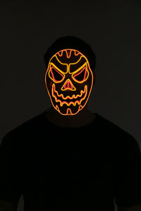 LED Light-up Scary Pumpkin Mask - Adult