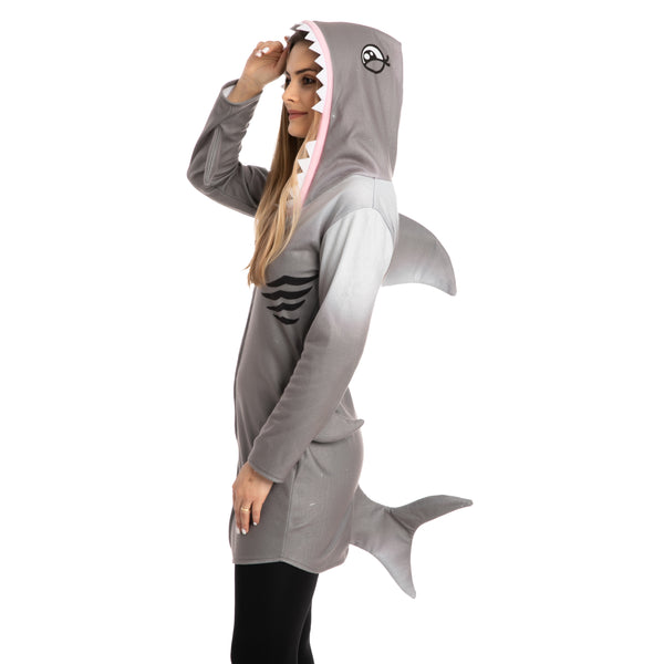 Fleece Shark Costume - Adult