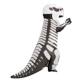 Skeleton T-rex Full Body Inflatable Costume - Adult