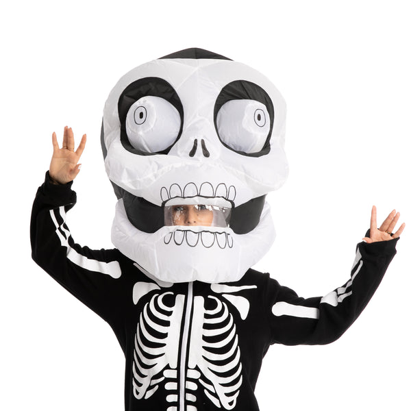 Bobble Head Skeleton Inflatable Costume - Adult