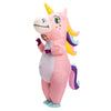 Inflatable Pink Rainbow Unicorn Costume
